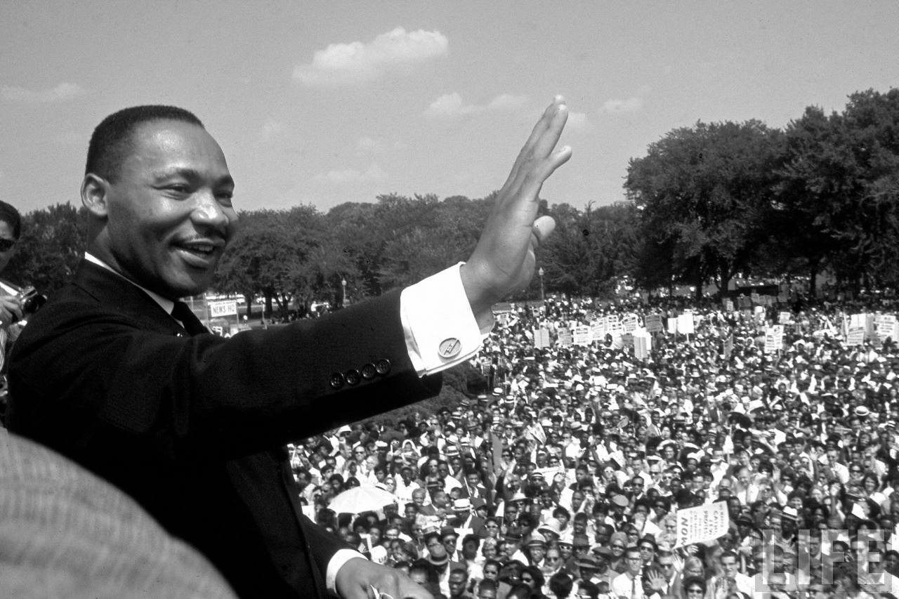 the historical account of the racial context in comparison to the martin luther king jrs i have a dr